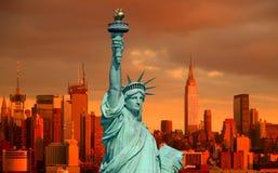 A estátua de liberdade Foto de Stock