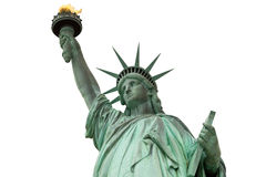 Estátua de liberdade & de por do sol de New York City Imagem de Stock Royalty Free