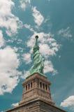 Estátua de liberdade & de por do sol de New York City Fotografia de Stock