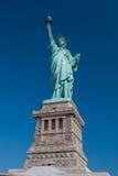 Estátua de liberdade & de por do sol de New York City Imagens de Stock Royalty Free