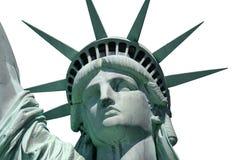 Estátua de liberdade isolada perto acima Imagens de Stock