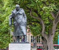 Estátua de Londres Churchill Imagens de Stock Royalty Free