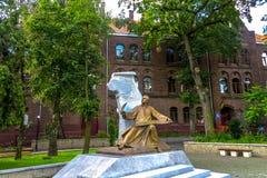 Estátua de Lviv Verbitsky imagens de stock