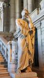 Estátua de Lycurgos, Bruxelas, palácio de justiça Foto de Stock
