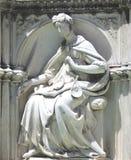 Estátua de mármore branca em Siena, Itália Fotos de Stock Royalty Free