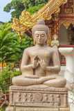 Estátua de mármore da Buda em Wat Phra Sing, Chiang Rai Province Imagem de Stock