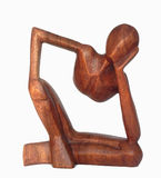 Estátua de madeira Imagens de Stock