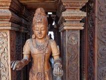 Estátua de madeira Fotografia de Stock
