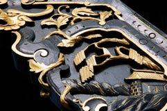 Estátua de madeira-cinzelada chinesa Imagem de Stock Royalty Free
