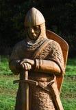 Estátua de madeira cinzelada da batalha do soldado de Hastings, Imagem de Stock