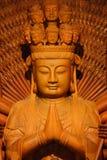 Estátua de madeira de Guan Yin Imagem de Stock Royalty Free