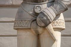 Estátua de Magdeburger Roland Knight, câmara municipal velha, Rathaus, Magdeb fotos de stock royalty free
