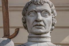 Estátua de Magdeburger Roland Knight, câmara municipal velha, Rathaus, Magdeb foto de stock