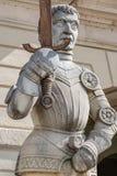 Estátua de Magdeburger Roland Knight, câmara municipal velha, Rathaus, Magdeb foto de stock royalty free