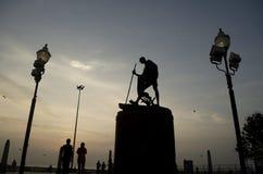 Estátua de Mahatma Gandhi, Chennai, Índia, Ásia Fotos de Stock Royalty Free