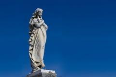 Estátua de Mary fotografia de stock