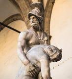 Estátua de Menelaus e de Patroclus em Florença Fotos de Stock Royalty Free
