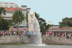 Estátua de Merlion Imagens de Stock