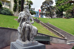 Estátua de Moses em Auckland Nova Zelândia imagem de stock