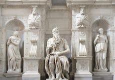 Estátua de Moses, Michelangelo, San Pietro em Vincoli, Roma fotografia de stock royalty free