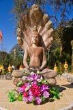 Estátua de Nacprk de templos tailandeses Fotos de Stock Royalty Free