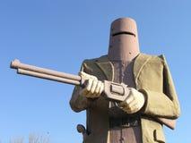 Estátua de Ned Kelly, Glenrowan, Victoria, Austrália imagem de stock