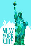 Estátua de New York City de liberdade Imagem de Stock