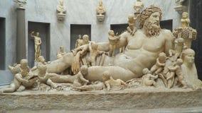 Estátua de nile do rio do museu do Vaticano vídeos de arquivo