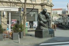 Estátua de Nokolaj Tesla Foto de Stock Royalty Free