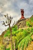 A estátua de Notre-Dame de França Imagens de Stock Royalty Free