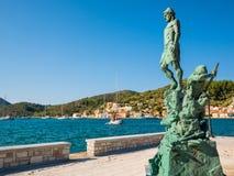 A estátua de Odysseus imagens de stock