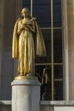 estátua de palais de chaillot Fotos de Stock Royalty Free