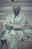 Estátua de Patrick Kavanagh Fotos de Stock Royalty Free