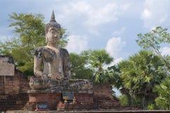 Estátua de pedra da Buda de Wat Maechon fotos de stock