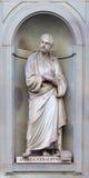 Estátua de pedra de Andrea Cesalpino Foto de Stock Royalty Free