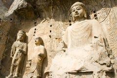 Estátua de pedra de buddha fotografia de stock