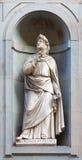 Estátua de pedra de Francesco Petrarca Foto de Stock