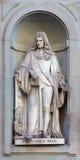Estátua de pedra de Francesco Redi Foto de Stock