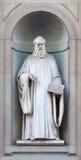 Estátua de pedra de Guido Aretino Imagens de Stock