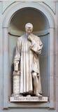 Estátua de pedra de Nicolò Macchiavelli Imagens de Stock