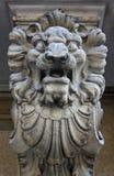 Estátua de pedra de um leão Fotos de Stock Royalty Free