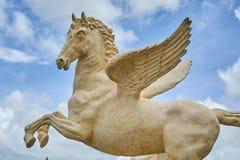 Estátua de pedra de Pegasus imagem de stock