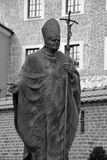 Estátua de Pope John Paul Ii Fotos de Stock Royalty Free