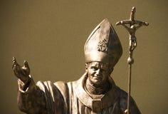 Estátua de Pope John Paul Ii fotografia de stock