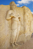 Estátua de Potgul Vihara, Polonnaruwa, Sri Lanka imagens de stock