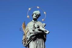 Estátua de Praga do ½ de janeiro Nepomuckà Fotografia de Stock Royalty Free