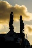 Estátua de rezar da mulher Fotos de Stock