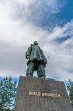Estátua de Roald Amundsen Fotografia de Stock Royalty Free