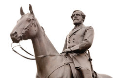 Estátua de Robert E. Lee em Gettysburg, isolado Fotografia de Stock