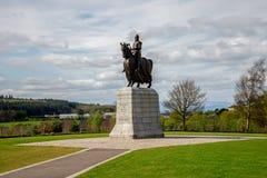Estátua de Robert o Bruce no campo de batalha de Bannockburn imagem de stock royalty free